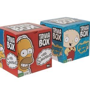 NIB Simpsons and Family Guy Trivia Box Bundle Set
